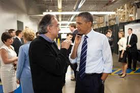 Sergio Marchionne con Barak Obama
