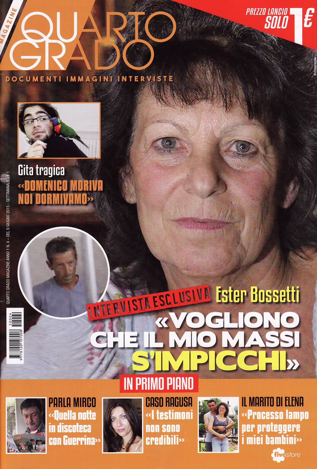 La copertina del numero 4 di Quarto Grado Magazine