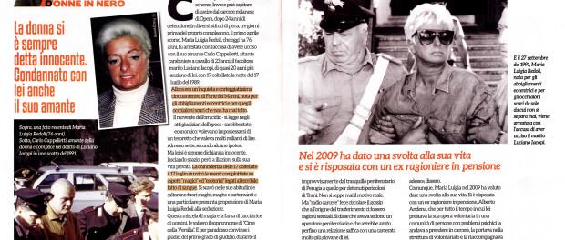 La Circe della Versilia. La nuova vita di Maria Luigia Redoli, Un mio articolo su Quarto Grado Magazine in edicola da mercoledì tre giugno