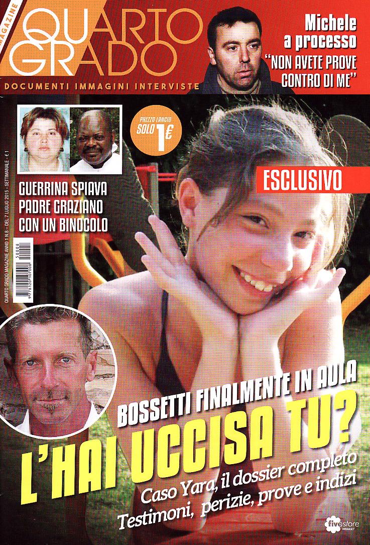 La copertina del numero otto di Quarto Grado Magazine