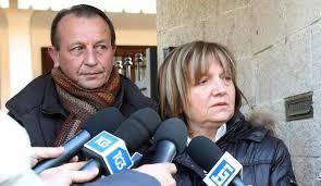 Giuseppe e Rita Poggi,  genitori di Chiara