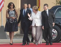 Angela Merkel, Barak Obama, Michelle Obama