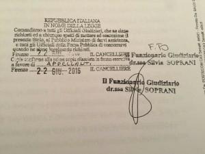 Il primo conto pignorato alla Fondazione An per l'azione intentata dal Msi Destra nazionale